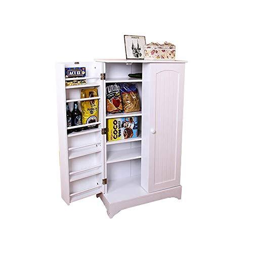 Xiaolin Casiers Armoires de Rangement des Aliments Zero Porch Living Room Storage Multi-Layer Storage White 60 * 30.7 * 104cm