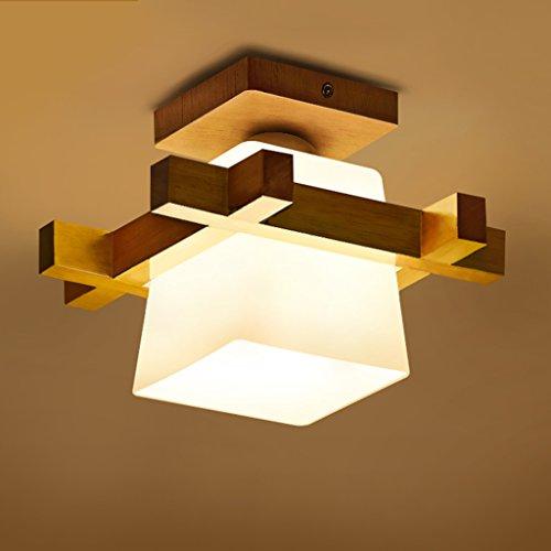 Xi Man Shop Luz de Techo Moderna Minimalista Luces de Pasillo de Madera Maciza Entrada Pequeña luz de balcón Muebles de Estilo japonés A+