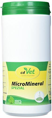 cdVet Naturprodukte MicroMineral Spezial 1 kg - Hund, Katze, Pferd - Vitamin- Mineralstoff- und Spurenelementgeber - Magen-Darm Regulation - Eisenquelle - Zellschutz - Muskelaufbau - Vitalität -