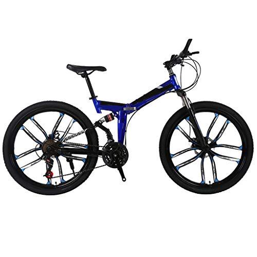 IFOUDNYOU Mountainbike 26 Zoll Kohlenstoffstahl Mountainbike 10-Speichen-Felgen 21-Gang Fahrrad Outdoor Radfahren MTB Erwachsenenfahrrad Studentenfahrrad Fahrrad Cityräder