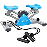 L NOW Mini Stair Stepper for Exercise Equipment Stair Stepper Machine with Resistance Bands and LCD Monitor,Mini Stepper for Indoor Workout S2 from L NOW