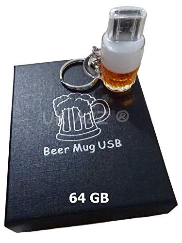 UK A2Z - Tazza da birra con cartone animato da 64 GB con chiavetta USB (in confezione regalo)