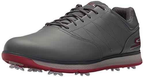 Skechers Performance Men's Go Golf Pro 3 Golf Shoe,Charcoal/Red,10 M US