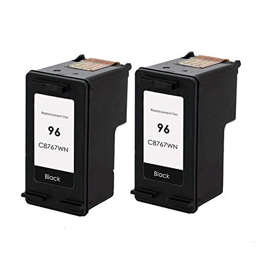 Cartucho de tinta compatible de alto rendimiento para HP 96 97, para impresora 5740 5740xi 5743 5745 5748 5940 2* negro