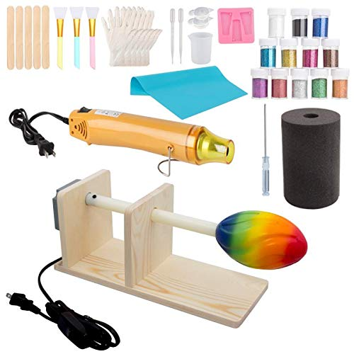 Cup Turner Tumbler Cuptisserie Heat Gun Set, Cup Spinner for DIY Glitter Epoxy Crafts