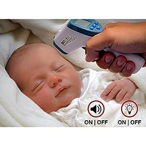 BGS 6006   Stirn-Fieber-Thermometer   Infrarot kontaktlos   für Baby, Kind, Erwachsene + Objekt-Messung   0 - 100°