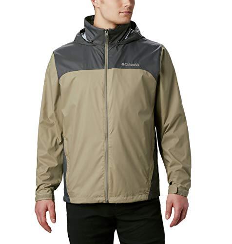 Columbia Men's Big & Tall Glennaker Lake Packable Rain Jacket,Tusk/Grill,3X