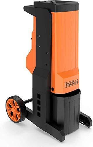 TACKLIFE Biotrituradora Eléctrica, Trituradora Eléctrica de Jardín, 2500W, 40 mm Diámetro Máximo, Hojas Intercambiables de Acero Especial, Desmontaje Rápido - PWS02A
