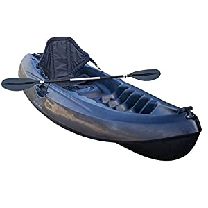 GoSea Pioneer Single Sit On Top Kayaks Deluxe Bundle with Paddle and Deluxe Padded Seat for One Man | Premium Compact Lightweight Adult Kayak Ideal for Beginners