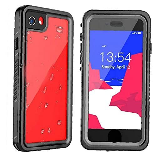 NiceJoy Teléfono Caja Protectora Compatible con iPhone Se 08.07.2020 Absorción De Choque Impermeable De La Caja Negro Claro