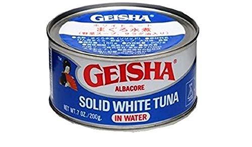 GEISHA(ゲイシャ) まぐろ水煮・ツナ缶 (野菜スープ・サラダ油入り) (ホワイトミート)200g ※缶切りが必要です