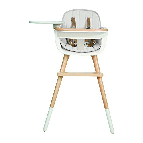 Micuna OVO Max Luxe Convertible High Chair with Leather Strap with Fabric Pad (White)