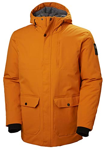 Helly Hansen Men's Urban Waterproof Windproof Breathable Fully Insulated Long Parka Jacket, 283 Marmalade, XX-Large