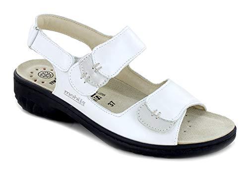Mephisto GETHA - Sandalias, color plateado, color Blanco, talla 38 EU