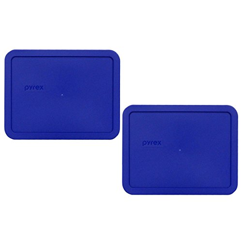 Pyrex 7211-PC 6 Cup Cobalt Blue Rectangle Food Storage Lid for Glass Dish (2, Cobalt Blue)