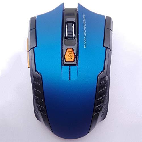 RONSHIN Draadloze 2,4 GHz optische muis met USB-ontvanger voor videogameconsole voor laptop elektronische accessoires, Blauw