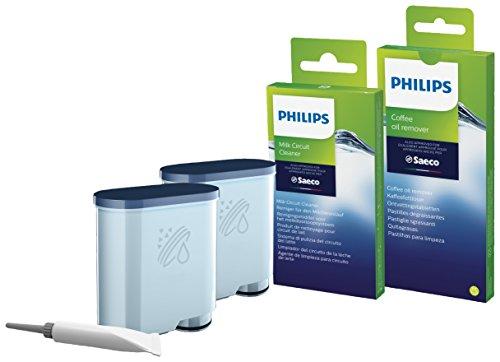 Philips Wartungskit CA6707/10 Rundum-Pflegeset für Kaffeevollautomaten (enthält AquaClean Wasserfilter), Kunststoff, Mehrfarbig