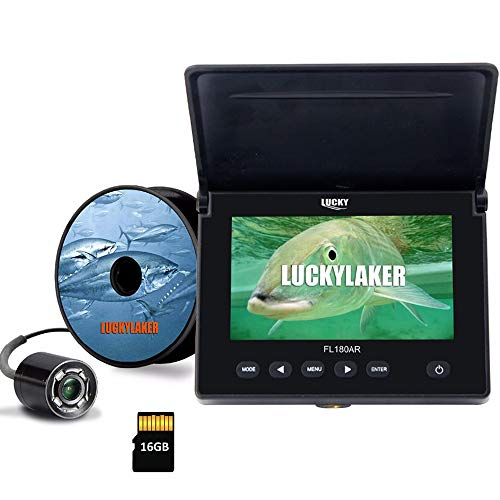 LUCKY Unterwasser Angelkamera DVR Unterwasser Fischfinder Infrarot LED Tragbare Angel Videokamera LCD Monitor für Kajakboot Seefischerei