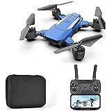 CXDM GPS Drone Drone 4K cámara, Transmisión en Vivo FPV 2,4 GHz Wi-Fi, cámara de 120 °, Aviones no tripulados RC quadricottero Plegar para Principiantes,Azul