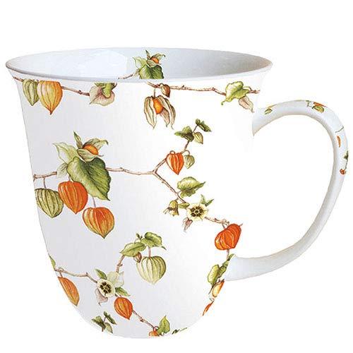 Ambiente Porzellan Becher - Mug - Tasse - Tee/Kaffee Becher ca. 400ml Autumn Lampion Herbst