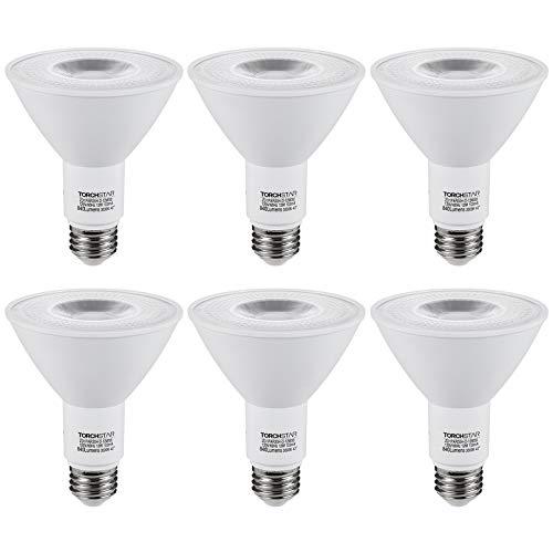TORCHSTAR CRI90+ 6 Pack PAR30 LED Bulb, Dimmable Spotlight Bulbs, 12W=75W, 3000K Warm White, UL & Energy Star Listed, 840LM, for Recessed Trim Lighting, Track Light