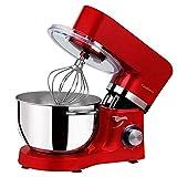 Cookmii 1500W Robot pâtissier, Robot pétrin, Robot mélangeur, Pétrisseur, Robot de cuisine multifonction Faible bruit avec Bol...