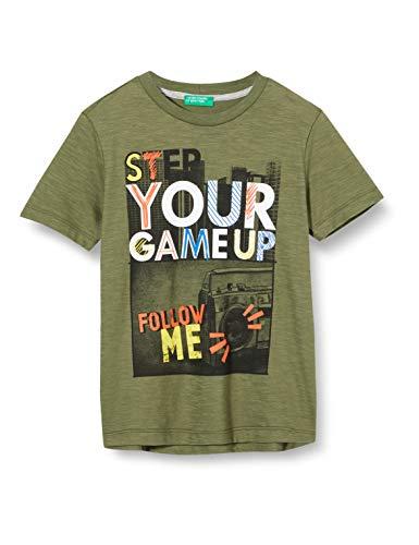 United Colors of Benetton Jungen T-Shirt Pullunder, Mehrfarbig (Four Leaf Clover 07n), 128 (Herstellergröße: Medium)