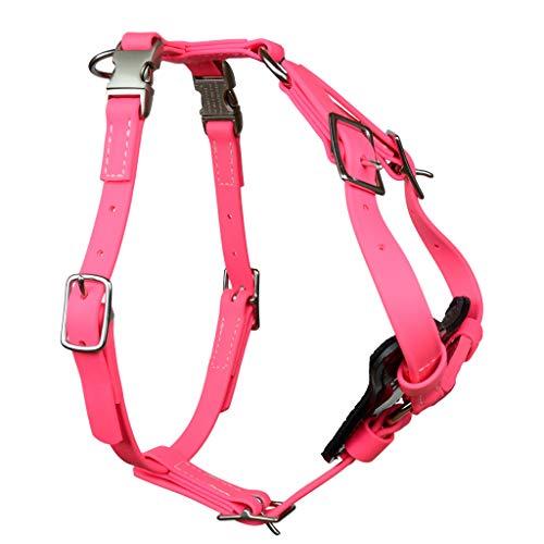 Redline K-9 All Weather Biothane Dog Harness (Medium, Pink)