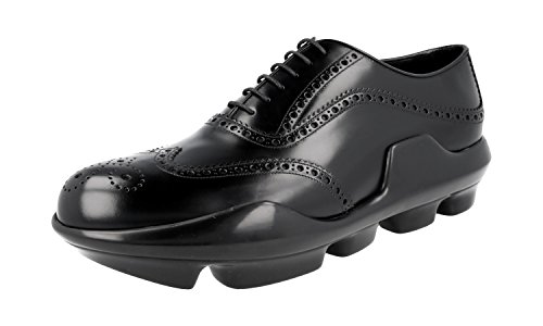 Prada Herren Schwarz Budspester Leder Business Schuhe 2EG126 055 F0002 40.5 EU / 6.5 UK