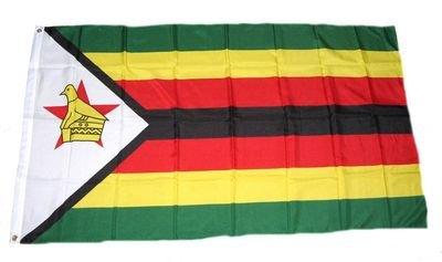 Flagge Fahne Simbabwe Zimbabwe 90 x 150 cm FLAGGENMAE®