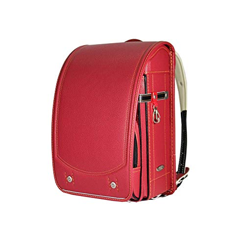 AIMA Red Leather Student Reduction Backpack Backpack WHL PU Student Burden XkZOiPu