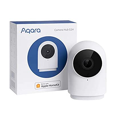 Aqara HomeKit Security Indoor Camera G2H, Night Vision, Two-Way Audio, 1080P HD Plug-in Indoor WiFi Camera, Family-Friendly Wireless Video Surveillance System, Smart Home Bridge for Alarm System