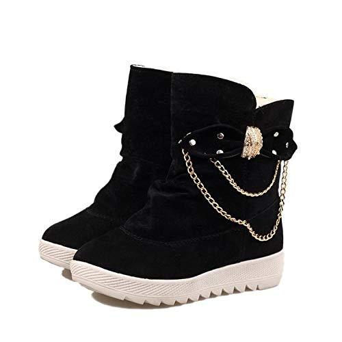LIANGJIE Winter New Snow Boots Damen Tube Bow Schneeschuhe Warm Burning Feet Schneeschuhe, B_40