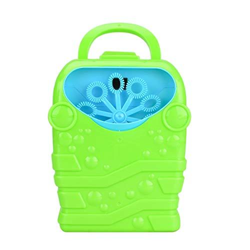 Tragbare Seifenblasenmaschine Seifenblasen Spielzeug Set für Kinder Automatischer Seifenblasenmacher Seifenblasen Seifen Bubble Maschine Angetrieben Von Batterie für Garten Party Hochzeit (Grün)