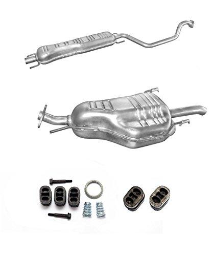 Auspuff Endtopf Mitteltopf + Montageware Ersatzteil (siehe Artikelbeschreibung) (passend für das angegebene Fahrzeug,siehe Artikelbeschreibung)