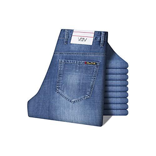 Lichtblauw Losse Stretch Jonge Zakelijke Mode Jeans All-Match Mode jiaoljdsnmiuxjWANG/A/Dertig/een