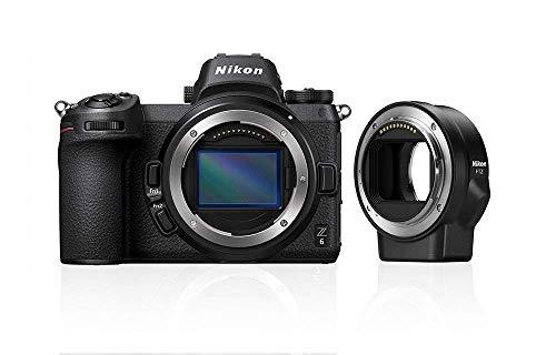 Nikon Z 6 Spiegellose Vollformat-Kamera mit Nikon FTZ-Adapter und 64 GB XQD-Speicherkarte (24,5 MP, 5 Achsen-Bildstabilisator, OLED-Sucher mit 3,69 Mill. Bildpunkten, 273 Messfelder AF, 4K UHD Video)