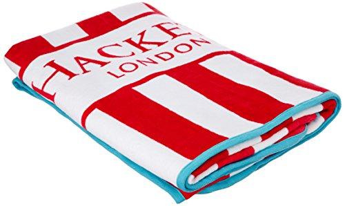Hackett London Bengal Towel - Toalla de playa para hombre, Rojo, 177 x 91.5 cm