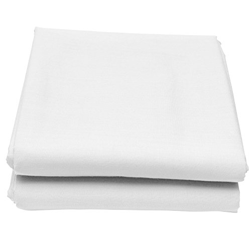 Just Contempo - lenzuola singolo singolo con angoli alla mantovana, misto cotone, lenzuola singolo singolo base letto Box Pleat - Single bianco
