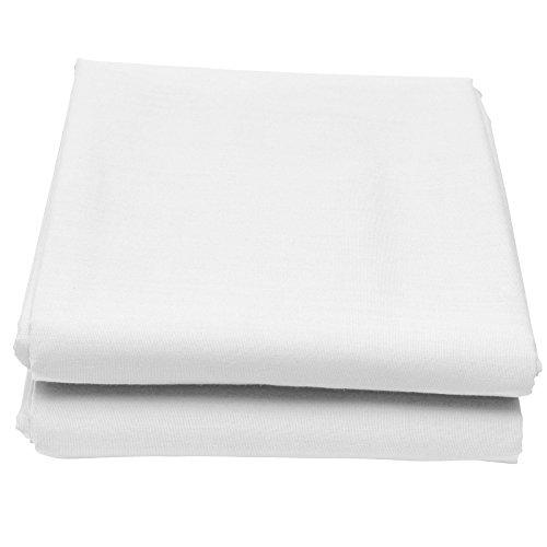 Just Contempo - lenzuola singolo singolo con angoli alla mantovana, misto cotone, lenzuola singolo singolo base letto Box Pleat - Single bianco