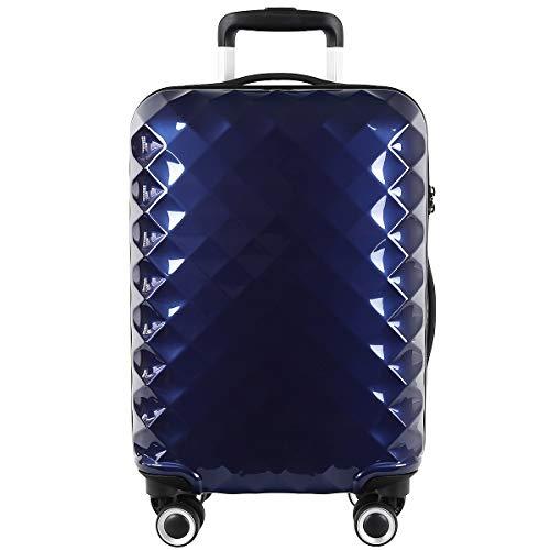 TITAN Prisma 4-Rollen 4-Rad Boardcase Kabinen Handgepäck Trolley Koffer 55 cm 847406 2,8 kg, Farbe:Navy