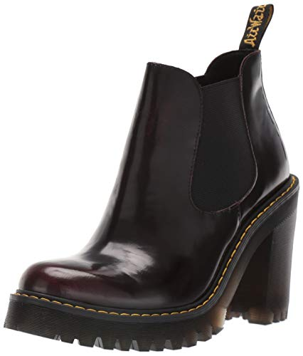 Dr. Martens Women's HURSTON Fashion Boot, Cherry Red, 5 M UK (7 US)