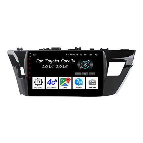 Android 10 Car Stereo 9 Pulgadas Pantalla Tactil para Coche Multimedia Navegación GPS para Toyota Corolla 2014-2015 con Pantalla Coche Conecta Y Reproduce Bluetooth Video SWC Cámara Trasera