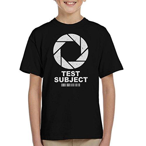 Test Subject Aperture Portal Half Life Kid's T-Shirt