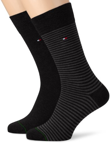 Tommy Hilfiger 342029001, Calcetines para Hombre, Negro (Black 200), 43/46 (Tamaño del Fabricante:043)