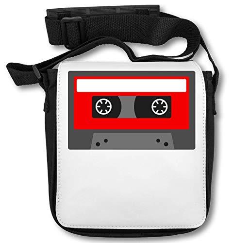 Minimalistic Red Cassette Tape Graphic schoudertas