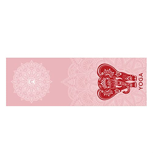 Toalla de Estera de Yoga Caliente 185 * 63cm Microfibra Antideslizante Antideslizante de la Toalla de Yoga de la Toalla de la Toalla de la Fitness Apto para Gimnasio Manta de Yoga (Color : Red)