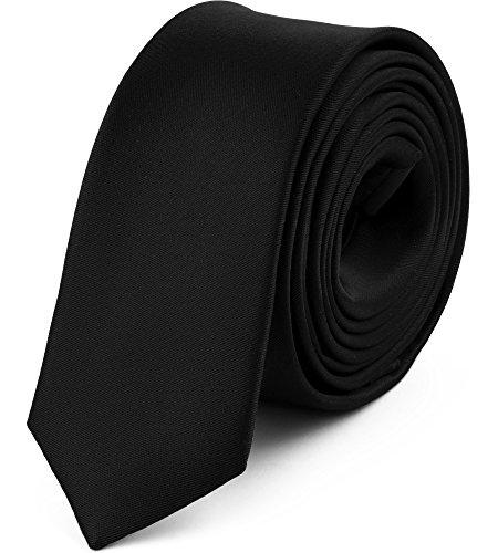 Ladeheid Cravatta Slim Uomo SP-5 (150cm x 5cm, Nero)