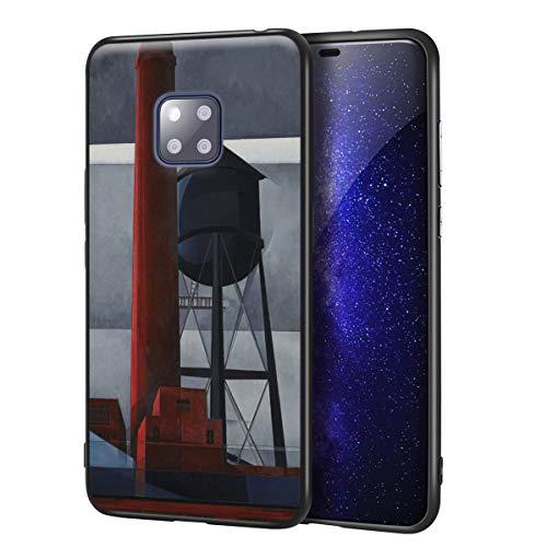 Berkin Arts Charles Demuth für Huawei Mate 20 Pro Hülle/Fine Art Handytasche/Giclée Ebene UV-Druck auf Telefonabdeckung(Schornstein und Wasserturm)