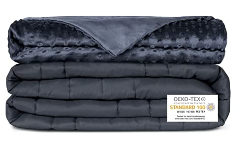 Newentor Weighted Blanket for Adults, Soft Removable Washable Cover,...